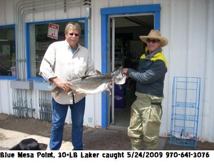 Blue Mesa Point Store is your supplier for state record fishing on Blue Mesa Reservoir.